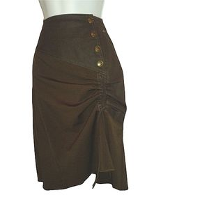 Salt and petter brown side ruffle skirt. Size 10